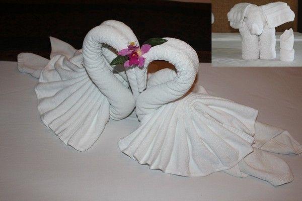 Origami de serviette - Pliage serviette animaux ferme ...